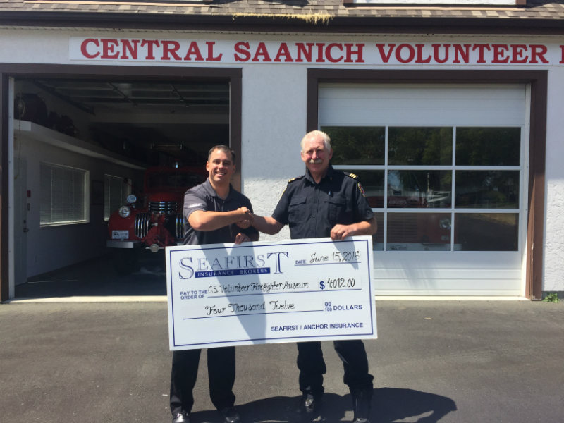 SeaFirst Insurance Brokers Support the Central Saanich Volunteer Firefighters Museum