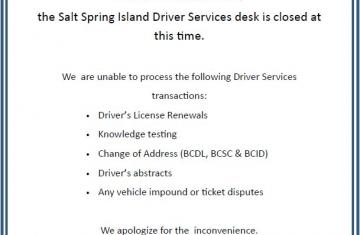 Driver Services Desk Closed due to Techical Issues