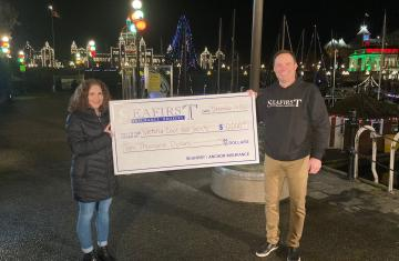 seafirst insurance victoria cool aid society donation cheque