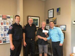 SeaFirst Donation Saanich Fire Hall