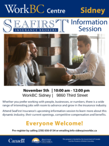 Seafirst insurance brokers information session sidney