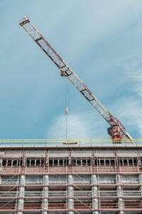 crane on top of building under construction