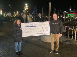 seafirst insurance victoria cool aid society donation cheque